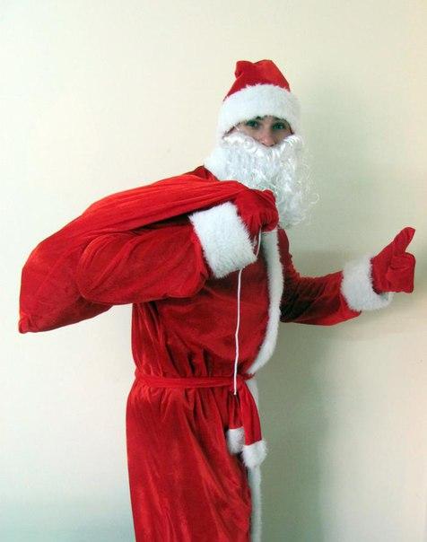 Шуба Деда Мороза вид сбоку.
