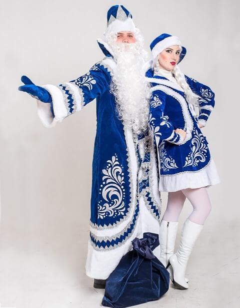 Дед Мороз и Снегурочка в Купеческих костюмах.