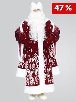 Костюм Деда Мороза Боярский Бордо в Волгограде