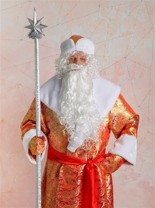 Костюм Деда Мороза золотой в Волгограде
