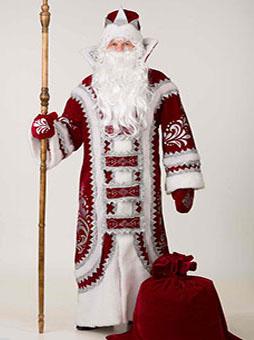 Костюм Деда Мороза Купеческий Бордо в Волгограде