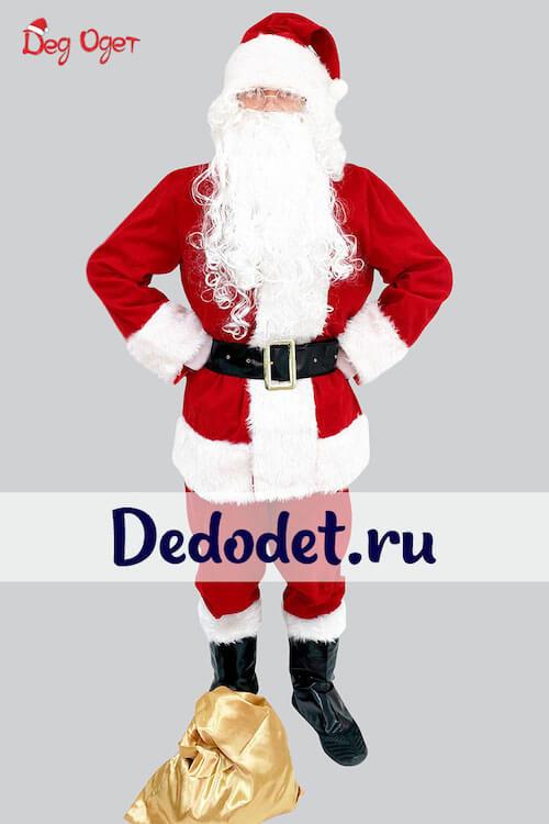Костюм Санта-Клауса для взрослых Люкс в Волгограде