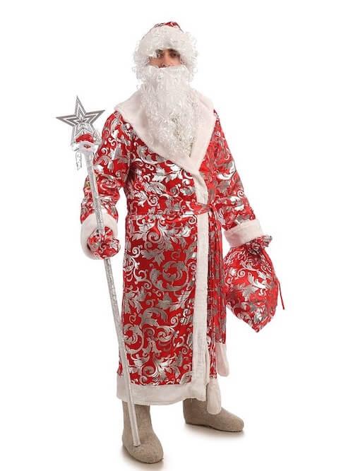 Костюм Деда Мороза блестящий  в Волгограде