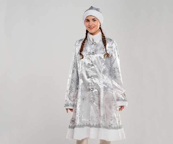Костюм Снегурочки белого цвета в Волгограде