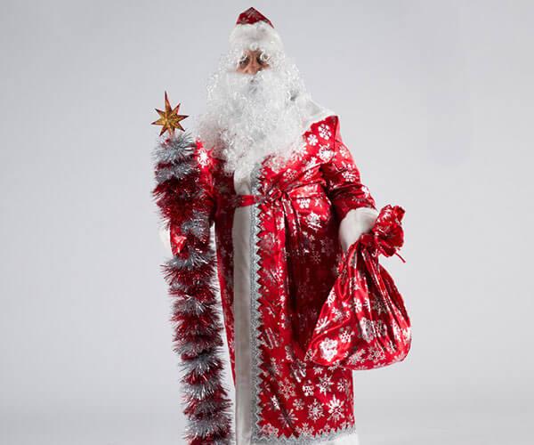 Костюм Деда Мороза Сатин в Волгограде